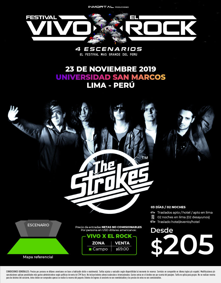 The Strokes Festiva Vivo X el Rock
