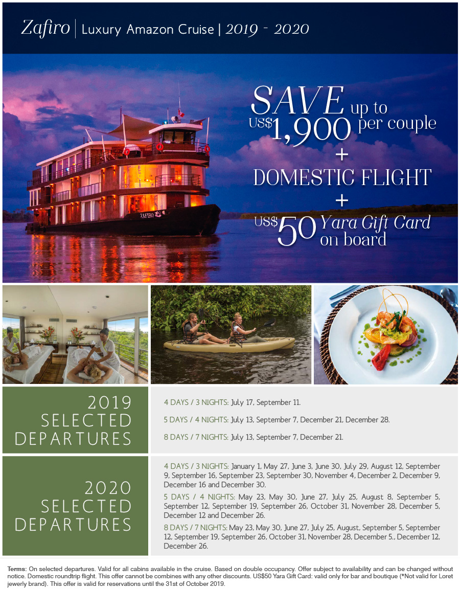 Zafiro - Luxury Amazon Cruise!