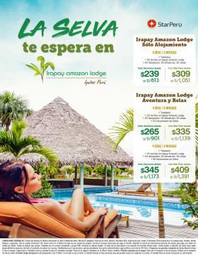 La Selva te espera en Irapay Amazon Lodge