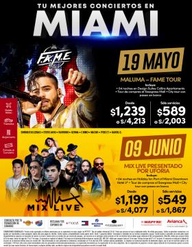 Tus mejores conciertos en MIAMI!!