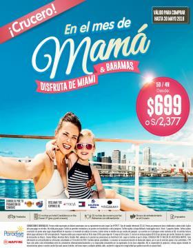 En el mes de mamá disfruita de Crucero por Bahamas