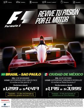 Fórmula 1 en Brasil y México