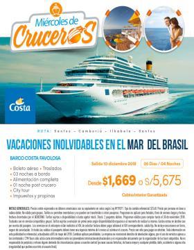 Vacaciones Inolvidables en el mar de Brasil - Miércoles de Crucero