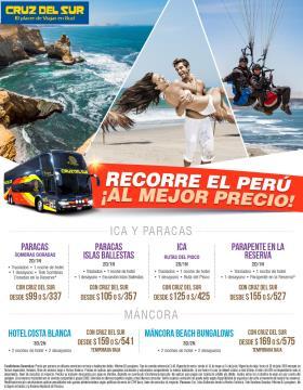 Recorre el Perú al mejor precio - Cruz del Sur (Ica y Paracas)
