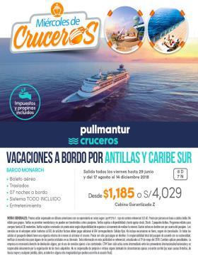 Miércoles de Cruceros - Pullmantur - Vacaciones a bordo por Antillas y Caribe Sur