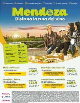 Disfruta la ruta del vino - Mendoza