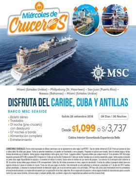 Disfruta del Caribe, Cuba y Antillas - MSC Cruceros