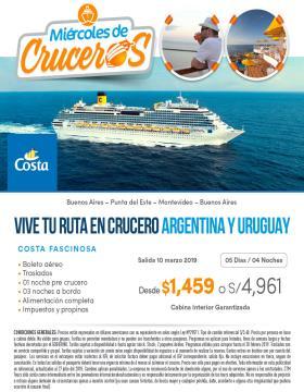 Argentina y Uruguay - Crucero Costa