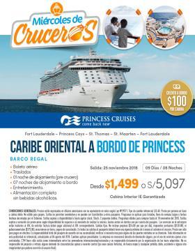 Caribe Oriental a bordo de Princess - Miércoles de Crucero