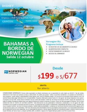 Bahamas a bordo de Norwegian - Salida: 12 octubre