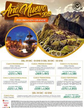 Recibe el Año Nuevo 2019 en Cusco