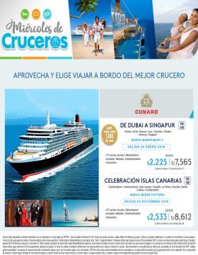 Miércoles de Cruceros a bordo de Cunard