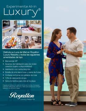 Luna de miel en Royalton Luxury Resorts