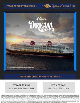 Promoción Disney Cruise Line