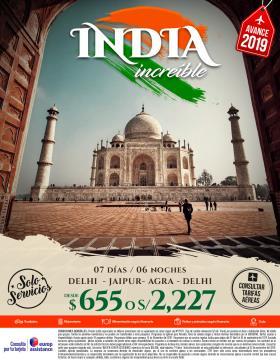 India increíble - Avance 2019