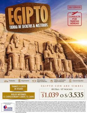Egipto Tierra de Secretos & Misterios - Solo Servicios
