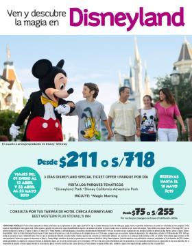 Promoción Tickets Disneyland 2019