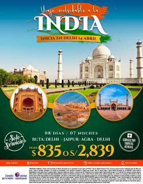 Viaje inolvidable a la India - 14 abril