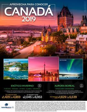 Aprovecha para conocer Canadá 2019