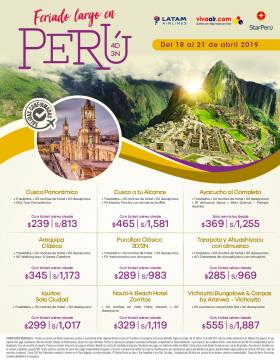 Feriado largo en Perú del 18 al 21 de abril