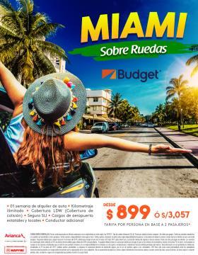 Miami Sobre Ruedas - Budget
