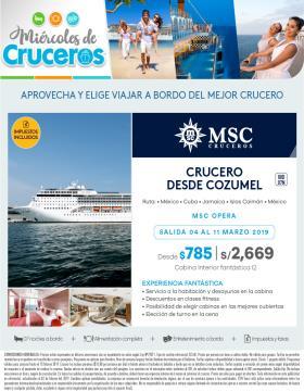 Crucero desde Cozumel - Miércoles de Cruceros