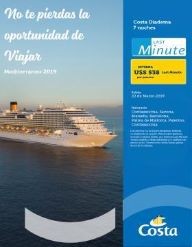 No te pierdas la oportunidad de viajar - Cruceros Costa