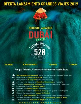 Sudeste Asiático + Dubai Gratis