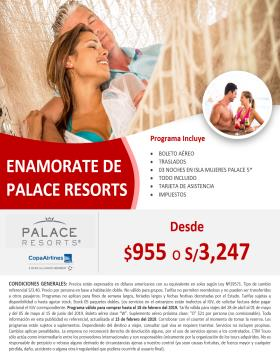 Enamorate de Palace Resorts