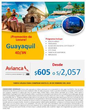 Guayaquil - Tarifa Promocional Avianca