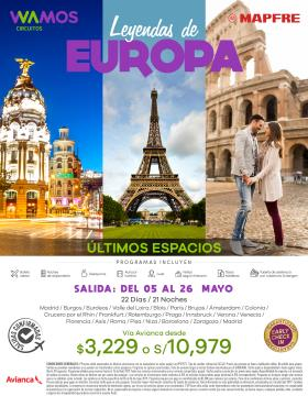 Leyendas de Europa Salida 05 de Mayo