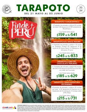 Finde Perú - Tarapoto del 31 mayo al 02 de junio