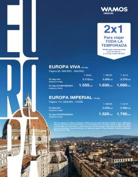 Europa 2x1 con Wamos