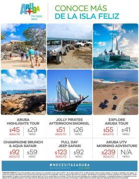 Excursiones Opcionales Aruba