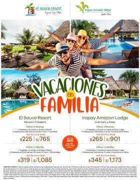 Vacaciones en Familia en Irapay - Sauce Resort