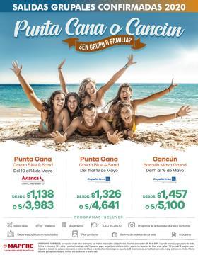 Punta Cana o Cancún - Viajes en Grupo