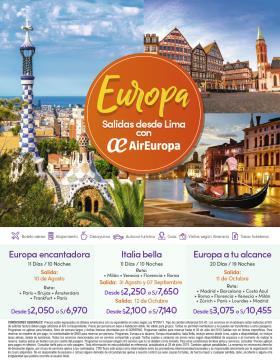 Europa Salidas desde Lima con Air Europa
