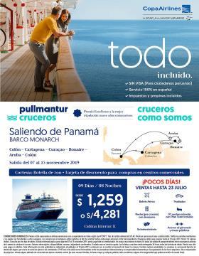 Pullmantur saliendo de Panamá del 07 al 15 de noviembre