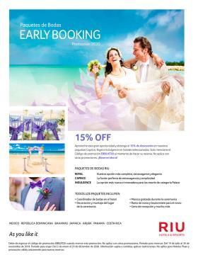 Paquetes de Bodas - Riu Hotels