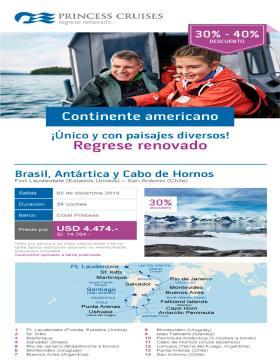 Brasil, Antártica y Cabo de Hornos con Princess Cruises