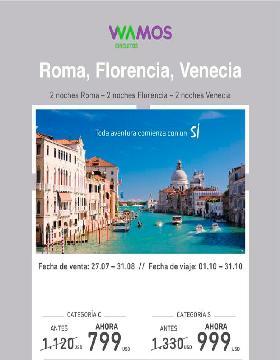 Roma , Florencia , Venecia - Wamos