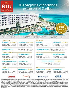 Tus mejores vacaciones están en el caribe con Riu Hoteles