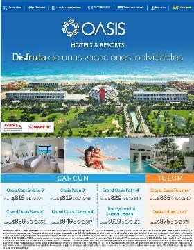 Disfruta de unas vacaciones inolvidables - Oasis 2018