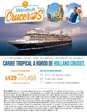 Caribe Tropical a bordo de Holland Cruises