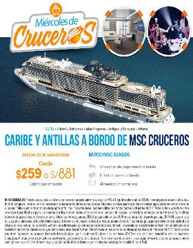 Caribe y Antillas a bordo de MSC Cruceros