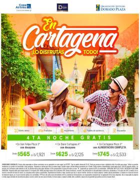 En Cartagena lo disfrutas todo!! 4ta noche gratis