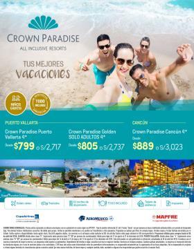 Tus mejores vacaciones en Crown Paradise